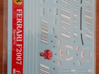 1:18 Ferrari F2007 Barcode decal