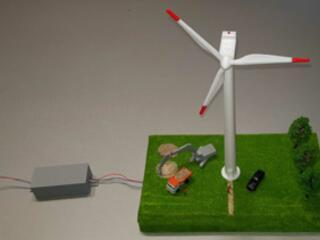 """Funkční model větrné elektrárny """"Z""""  - 3D"""