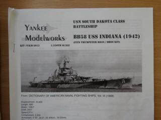 Konverzní set pro   USS Indiana 1: 350  - YKM 3013